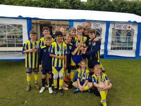 Romsey Town Youth FC at at the Romsey Town annual summer football tournament