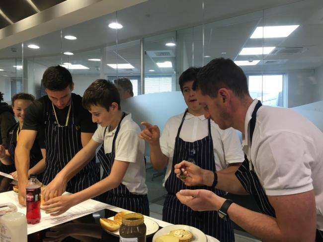 The build-a-burger competition with BidFood and Dallaglio RugbyWorks
