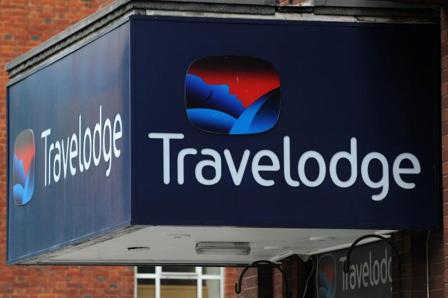 A Travelodge sign