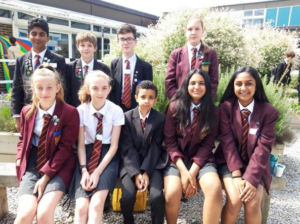 Pupils who took part in the book award