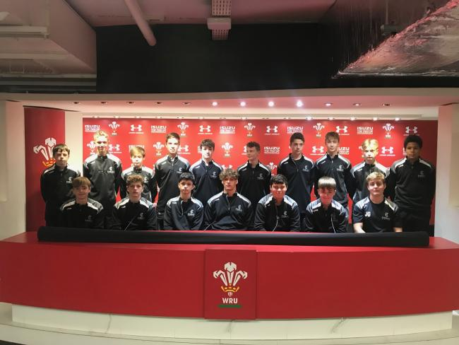 Students at the Principality Stadium