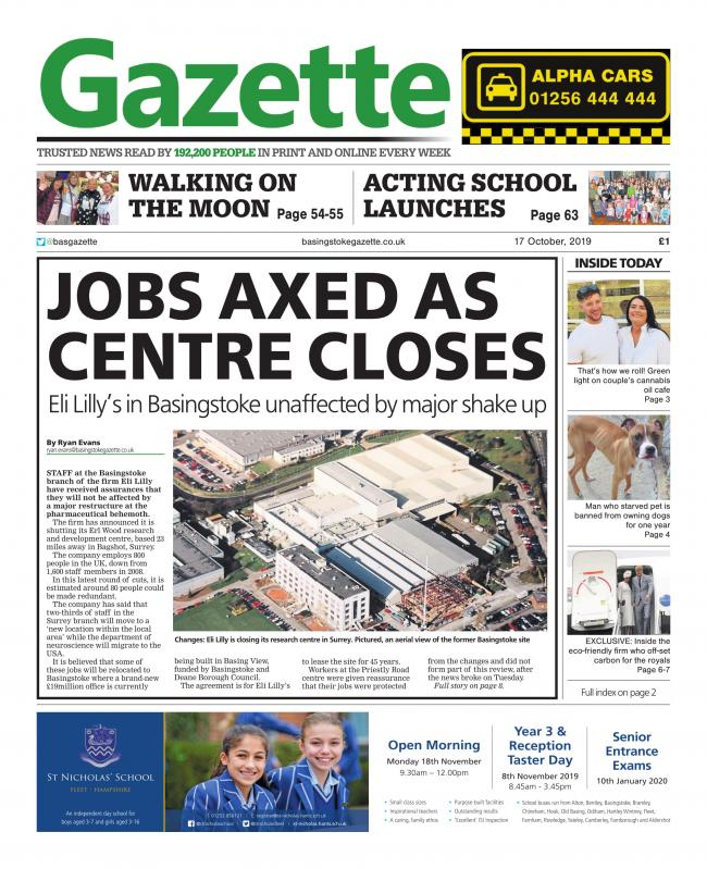 PAPER PREVIEW: Jobs axed as centre closes
