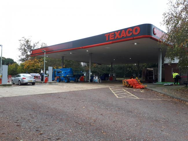 Texaco fuel station in Romsey Road