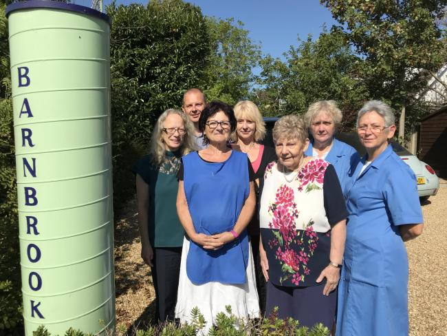 Barnbrook Systems staff staff, l-r, Janice Whittingham, Andrew Gordon, Miriam Landy, Karen Williamson, Julie Lamport, Sharon Whettingsteel and Maggie Goulding