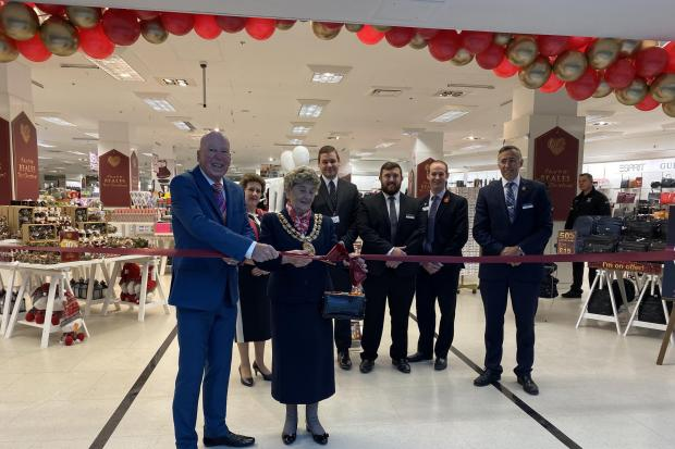 The opening of Beales in Fareham in November