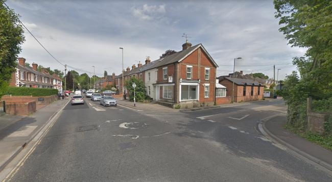 The gas leak on the roundabout between Winchester Road and Botley Road. Photo: Google