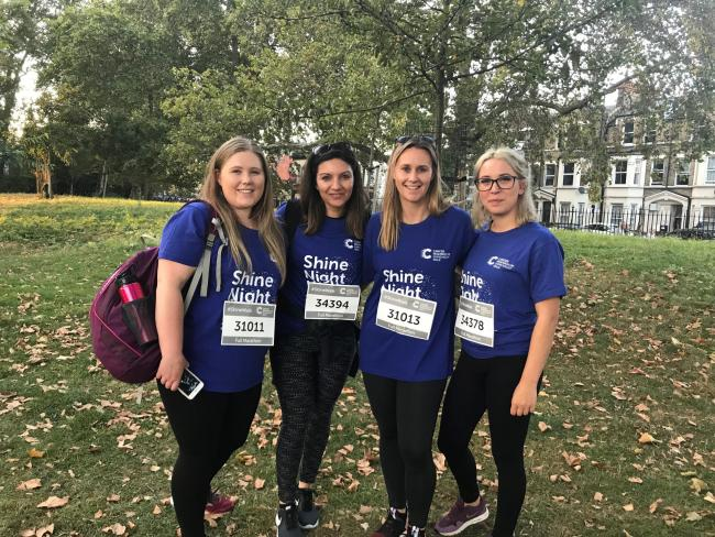 Aster Shine Walk in aid of Cancer Research UK