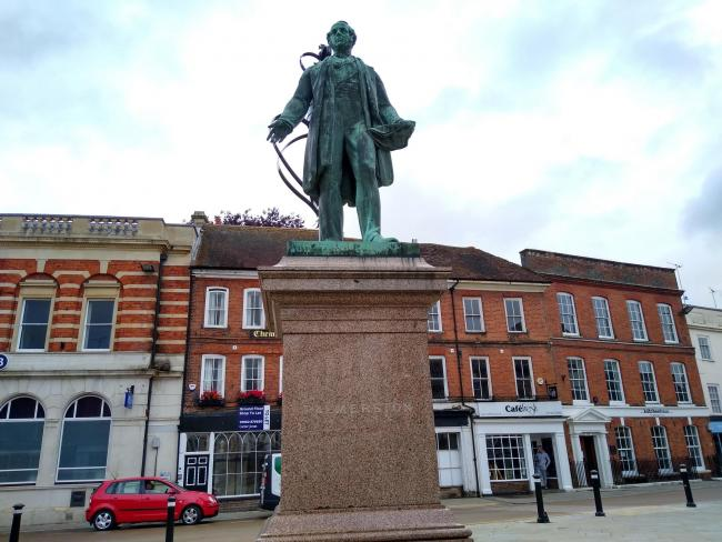 The Palmerston statue, Romsey