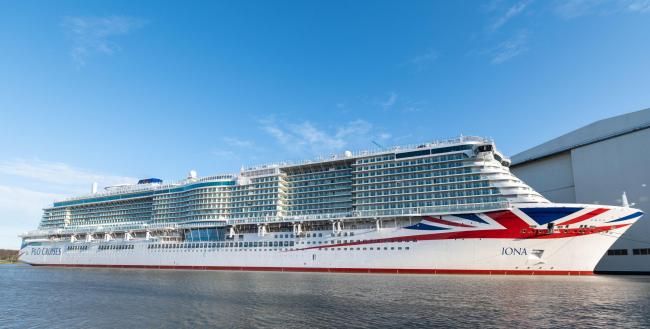The Iona will join P&O Cruises' fleet before autumn 2020
