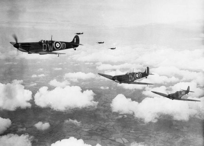 Battle of Britain Spitfire formation