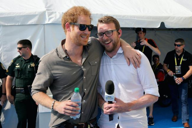 Prince Harry with JJ Chalmers