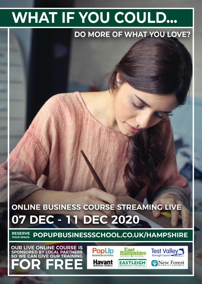 The business course poster