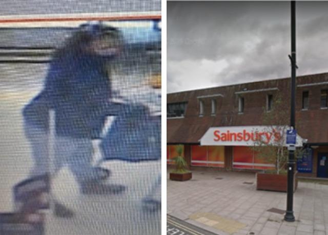 The CCTV image released by Hampshire police and the Sainsbury's in Bridge Street, Andover
