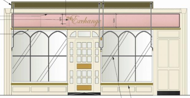 Romsey Advertiser: What the front of the bar could look like