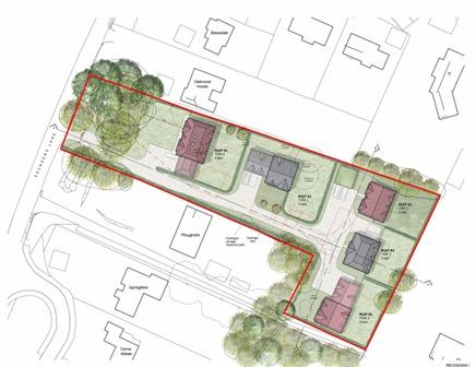 The proposed five houses in Awbridge