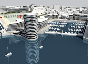 Luxury vision for waterfront