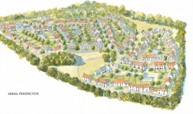 An artist's impression of Pitt Manor