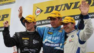 Robert Collard (right) is aiming for a Thruxton podium finish