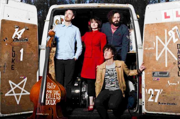 Winchester band Polly and the Billets Doux will open the season of concerts at King's Somborne Village Hall