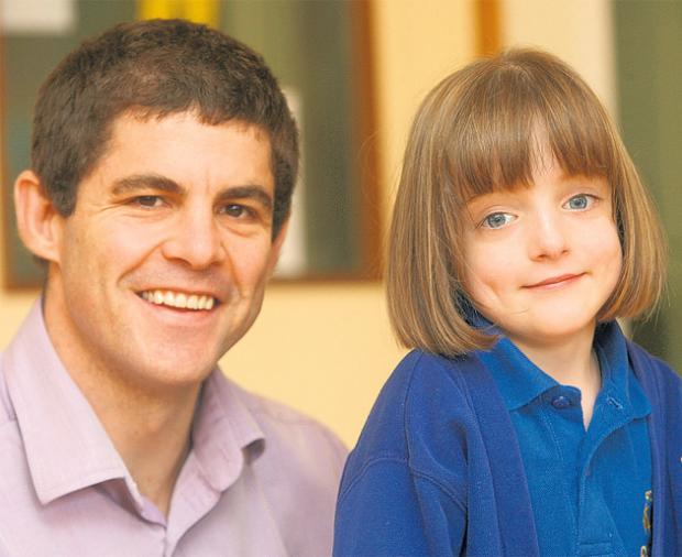 Young patient Charlotte Noonan, pictured with Dr Ian Rodd last year. Her family are backing the Magic Wand Appeal.