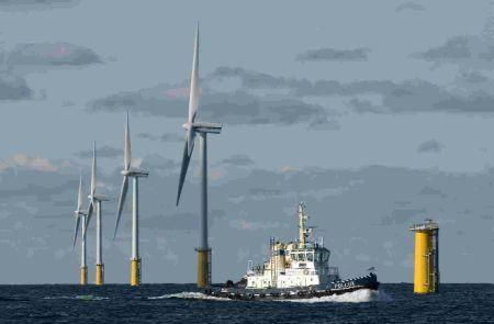The Princess Amalia offshore wind park that was built by Eneco in the Dutch part of the North Sea