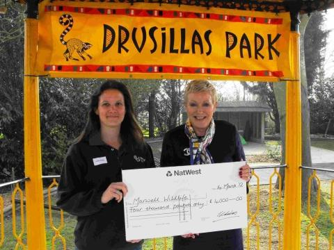 Drusillas Park managing director, Christine Smith with Shelly Parkes from Marwell Wildlife
