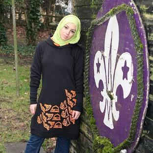 Mirriam Kaissi wearing the new Scouts clothing range range for Muslim girls (PA/Scout Association)