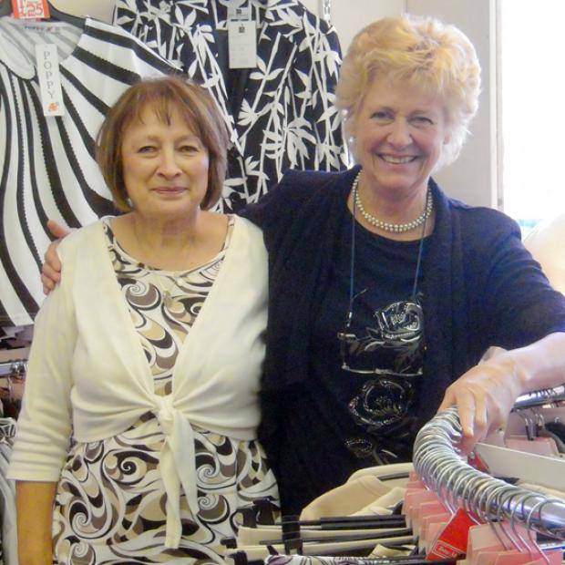 Shop manager Christine Moore and proprietor Marilyn Husbands of  Trowmill Classics in Romsey