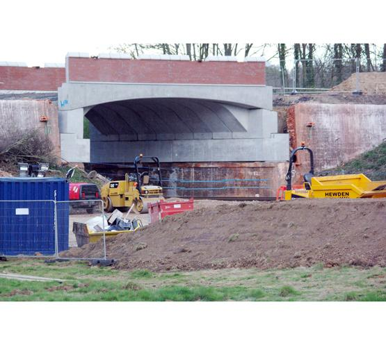 Work in progress: Ashfield Bridge on the A27 near Romsey, photographed earlier this week by Chris Levy