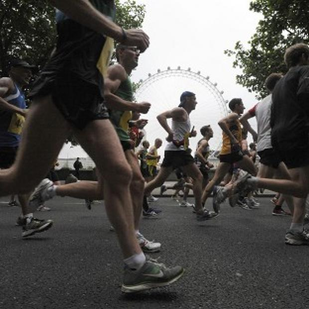 Thousands of runners are taking part in the Virgin London Marathon