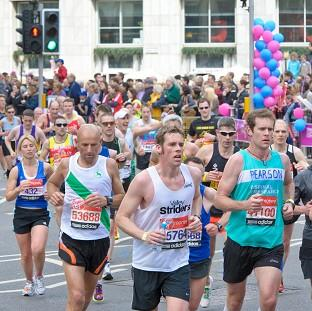 Thousands of runners took part in the Virgin London Marathon