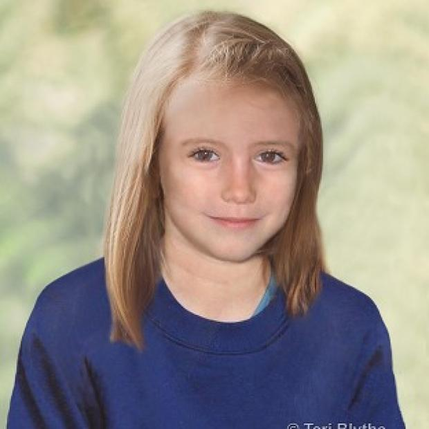 Police have released an age progression image of Madeleine McCann showing how she might look today (Teri Blythe/Metropolitan Police/PA)