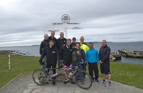 The Magic Wand team at John o' Groats on Monday