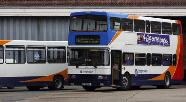 Buses at Winchester bus station