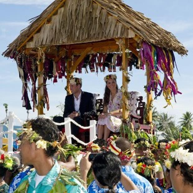 The Duke and Duchess of Cambridge, pictured in the Solomon Islands, are considering new action over topless photos (Arthur Edwards/The Sun/PA)