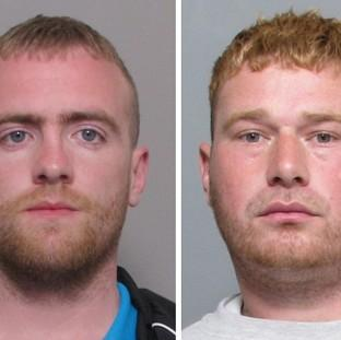 Burglars Joshua O'Gorman, left, and Daniel Mansell have both been jailed after they were shot by a homeowner (Leicestershire Police/PA)