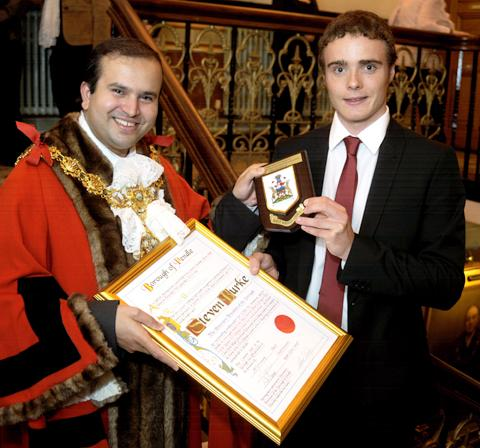 Romsey Advertiser: Steven Burke becomes a freeman of Pendle