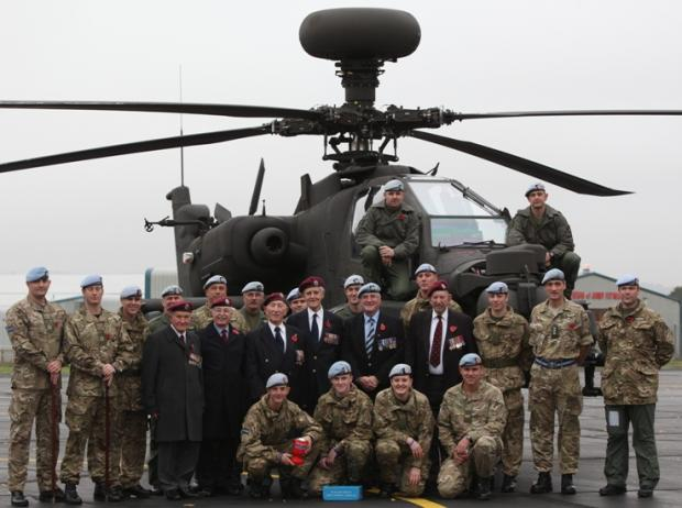 The Hampshire Poppy Appeal was launched at the Army Aviation Centre in Middle Wallop last week