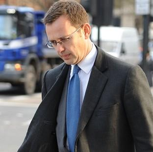 Andy Coulson arrives at Westminster Magistrates' Court to face charges linked to alleged corrupt payments to public officials
