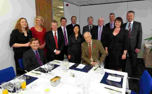Bank of England agent Chris Piper (front left) and Government Chief Whip Sir George Young attended the RSM Tenon Basingstoke Business Leaders' Forum
