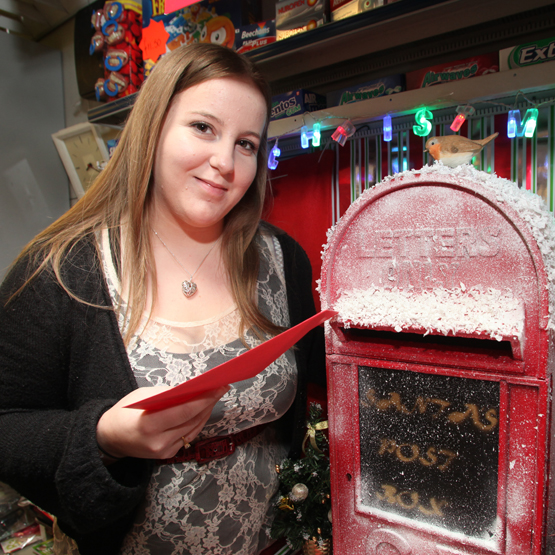 Janine's Santa postbox helps kids' cancer ward