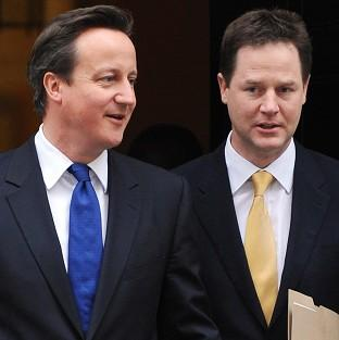 David Cameron and Nick Clegg have made a rare joint appearance before the media