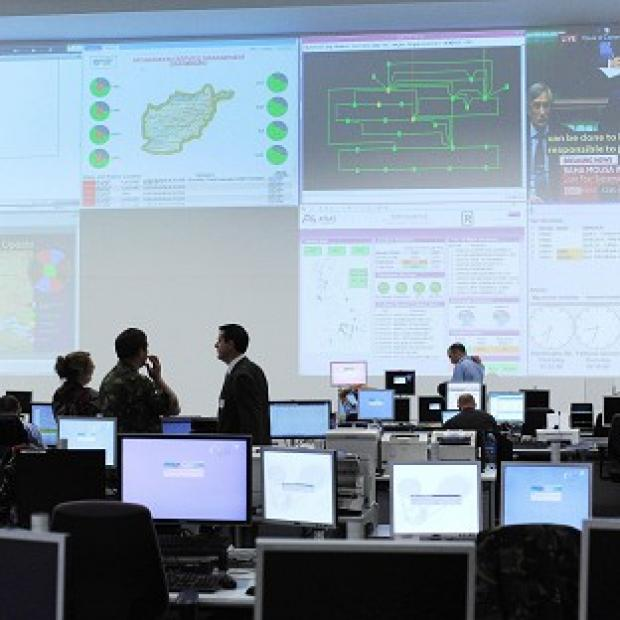 The Global Operations Security Control Centre, which is responsible for protecting the military's networks worldwide from cyber attacks