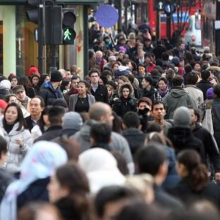 The number of shoppers fell in December despite a late surge just before Christmas