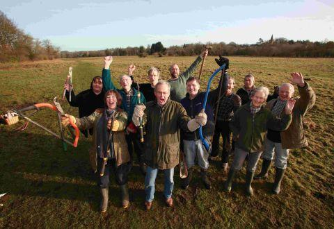 Twyford residents celebrate buying Berry Meadow and preserving it for local use