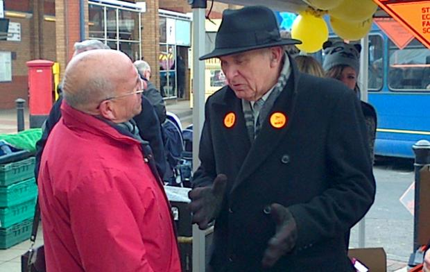 Mr Cable in Eastleigh on Thursday.