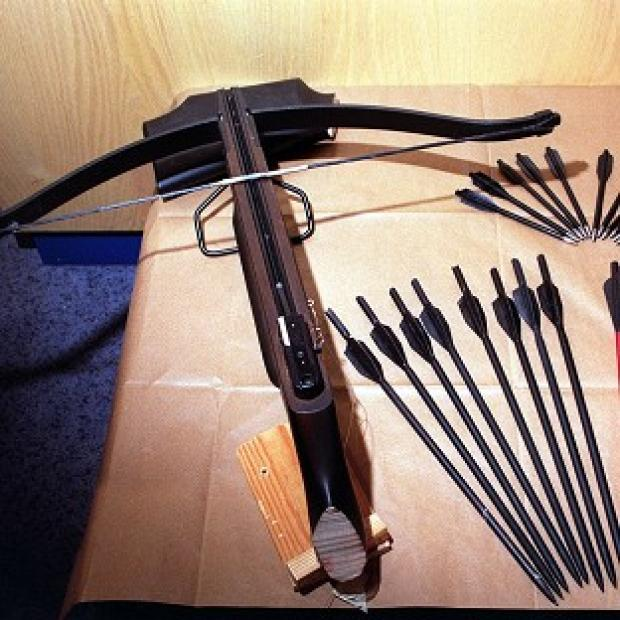 A man said to have been carrying a crossbow has been arrested