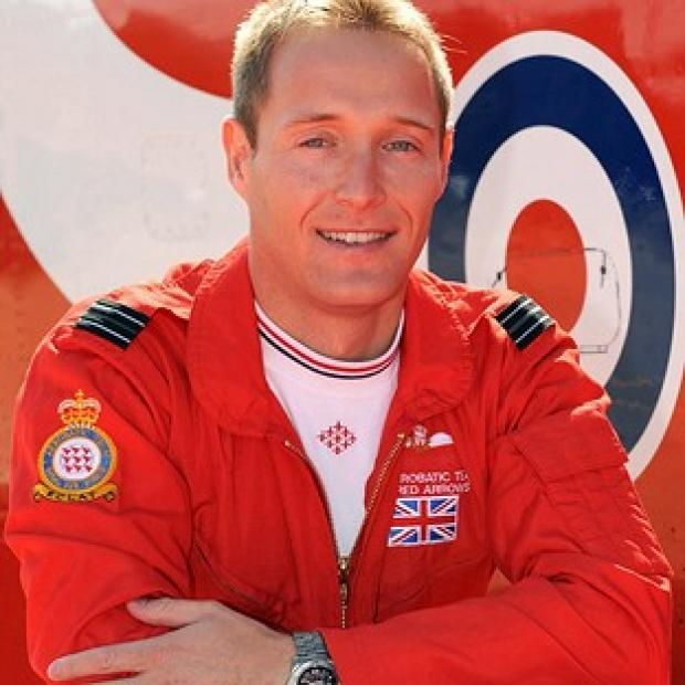 Flight Lieutenant Sean Cunningham, 35, was killed after being ejected from his Hawk T1 while on the ground at RAF Scampton (MoD/PA)
