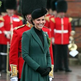 The Duchess of Cambridge visits the 1st Battalion Irish Guards at Mons Barracks, Aldershot