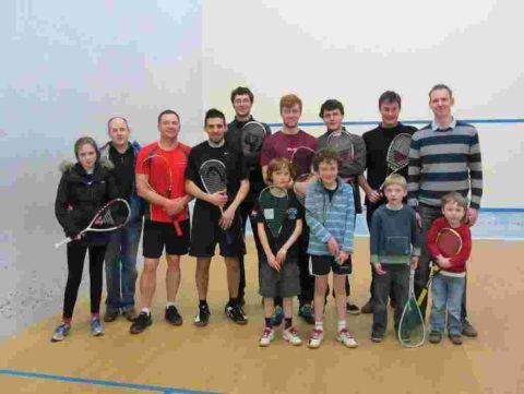 Romsey Advertiser: The 24-hour Squashathon was held to raise money for the Winchester Churches Nightshelter.
